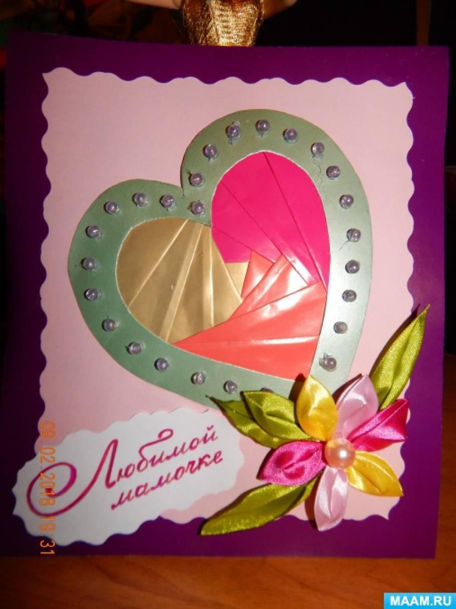 Изготовление открытки 8 марта открытки, про детей