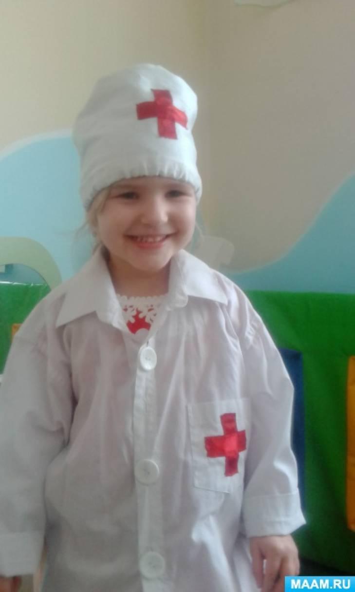 Выкройка халатика для доктора в детский сад