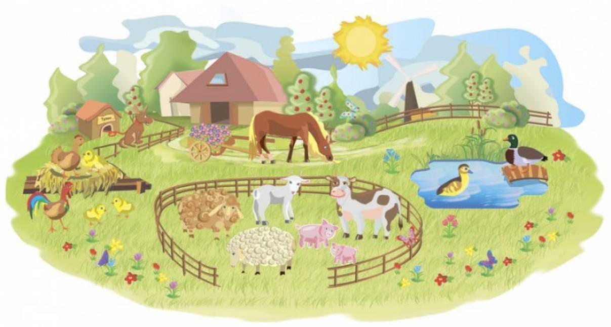Конспект занятия по развитию речи и формированию представлений о домашних животных «В деревне» для младших дошкольников