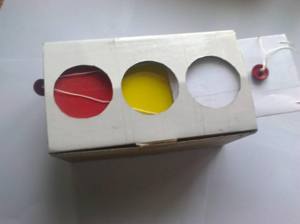 Как сделать светофор из бумаги своими руками схема 31
