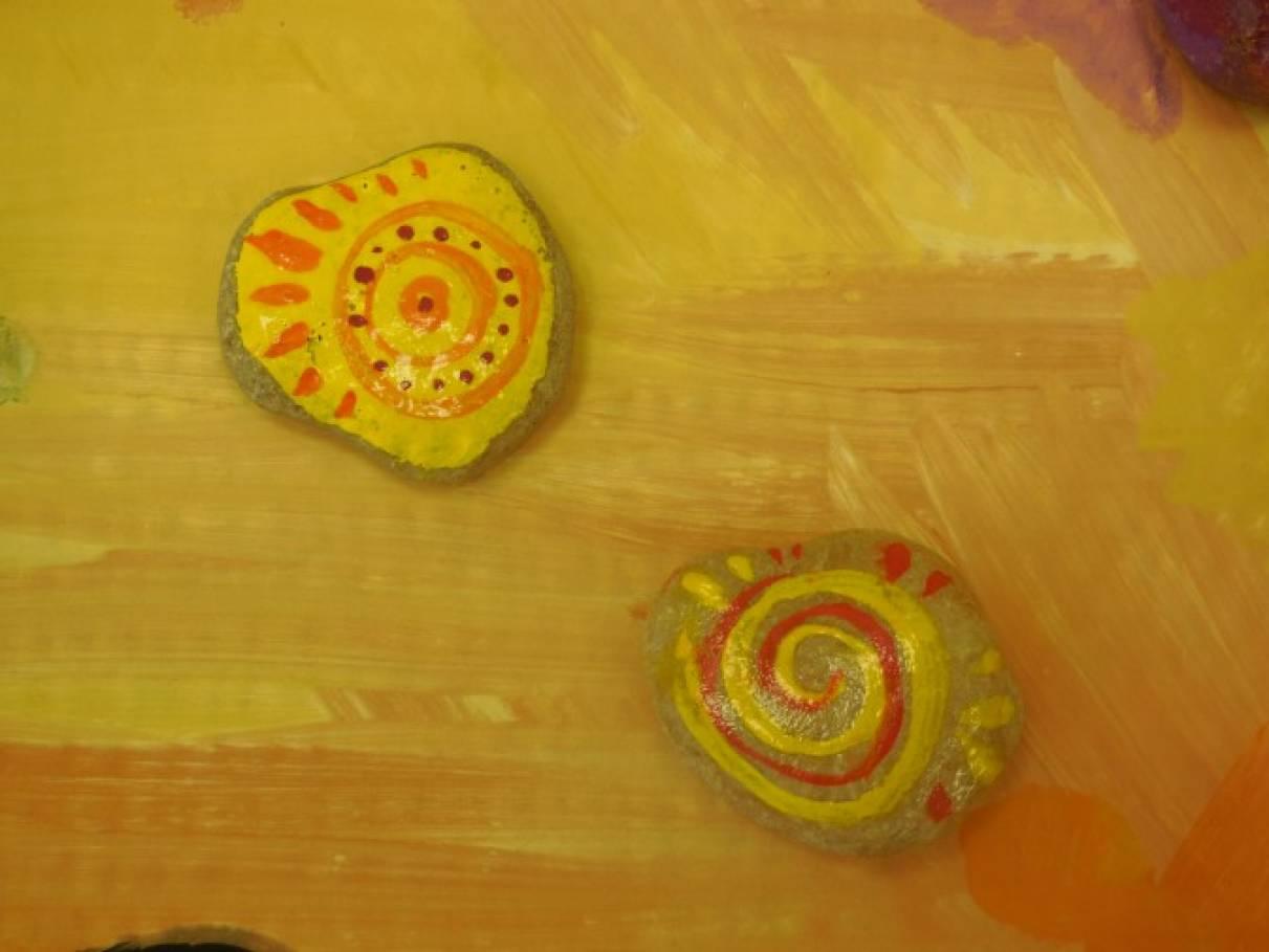 Мастер-класс для педагогов по росписи камней «Каменный оберег. Символ Солнца — символ добра и тепла»