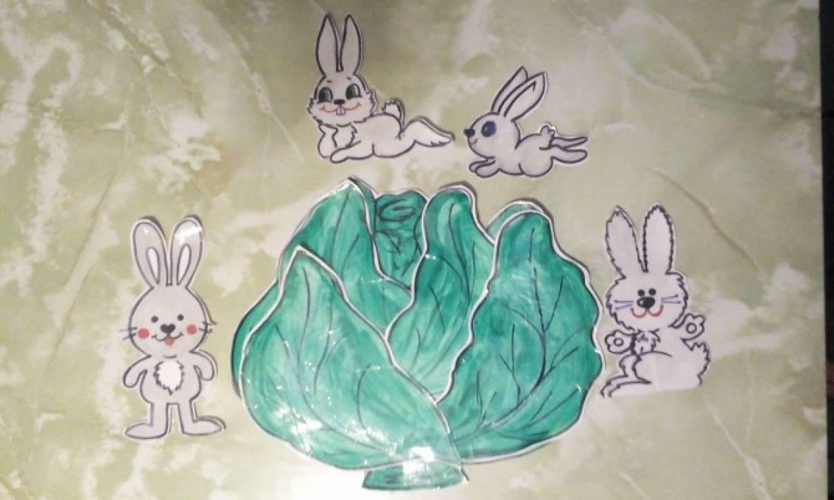 Дидактическая игра «Зайцы в капусте»