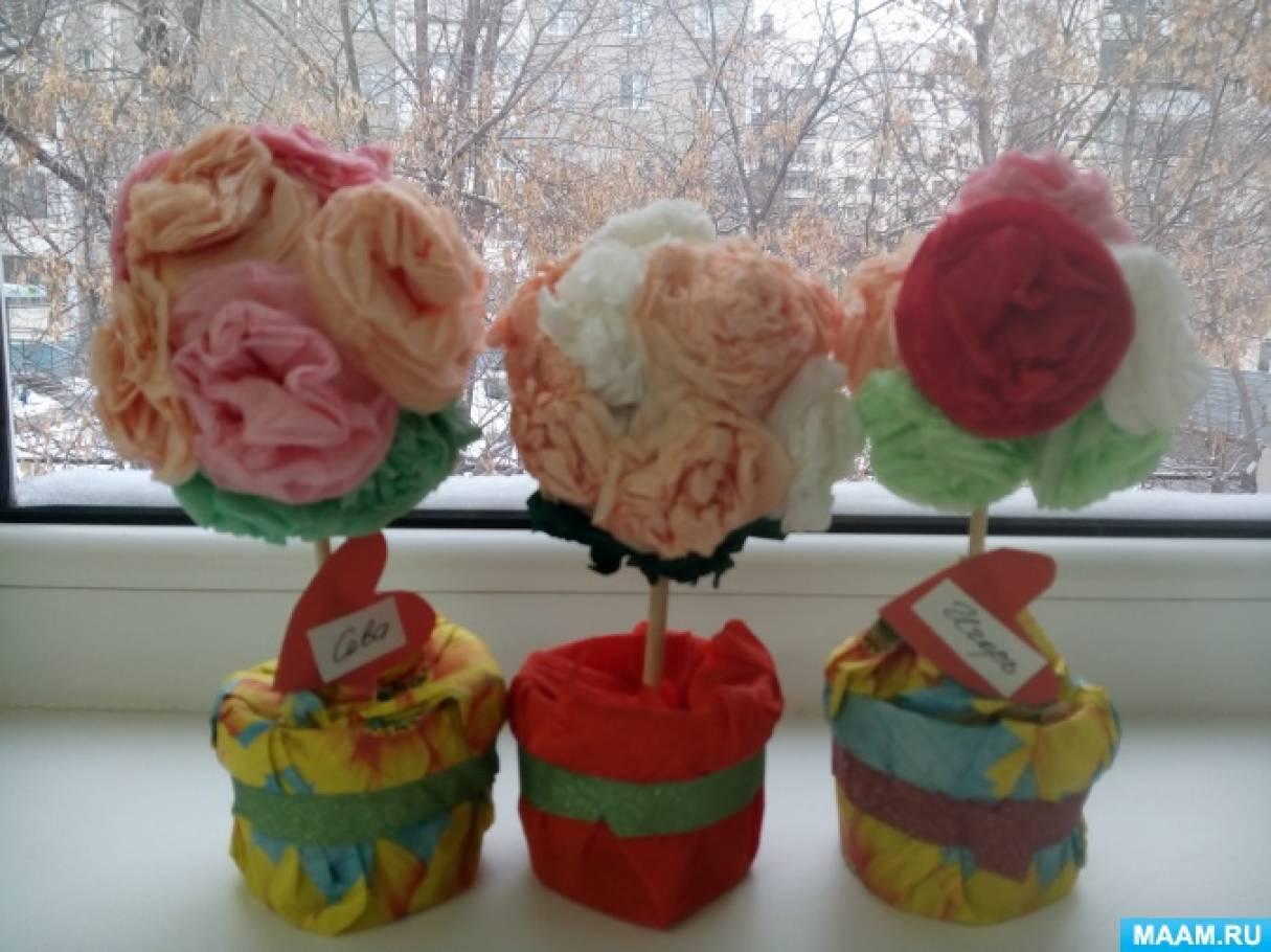 Подарок для мамы на 8 марта «Топиарий или дерево счастья»