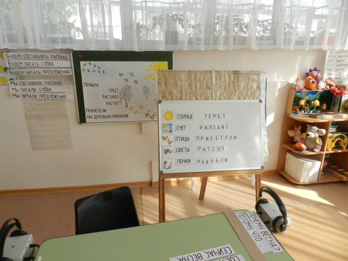 Открытое занятие по развитию речи с неслышащими детьми 4 год обучения 1 вид. апрель 2016 г.