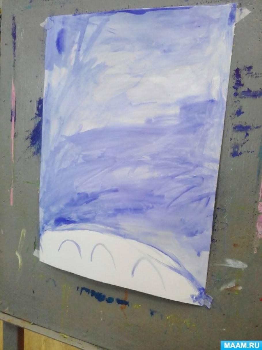 Занятие по рисованию с детьми 5–6 лет «Белая береза под моим окном»