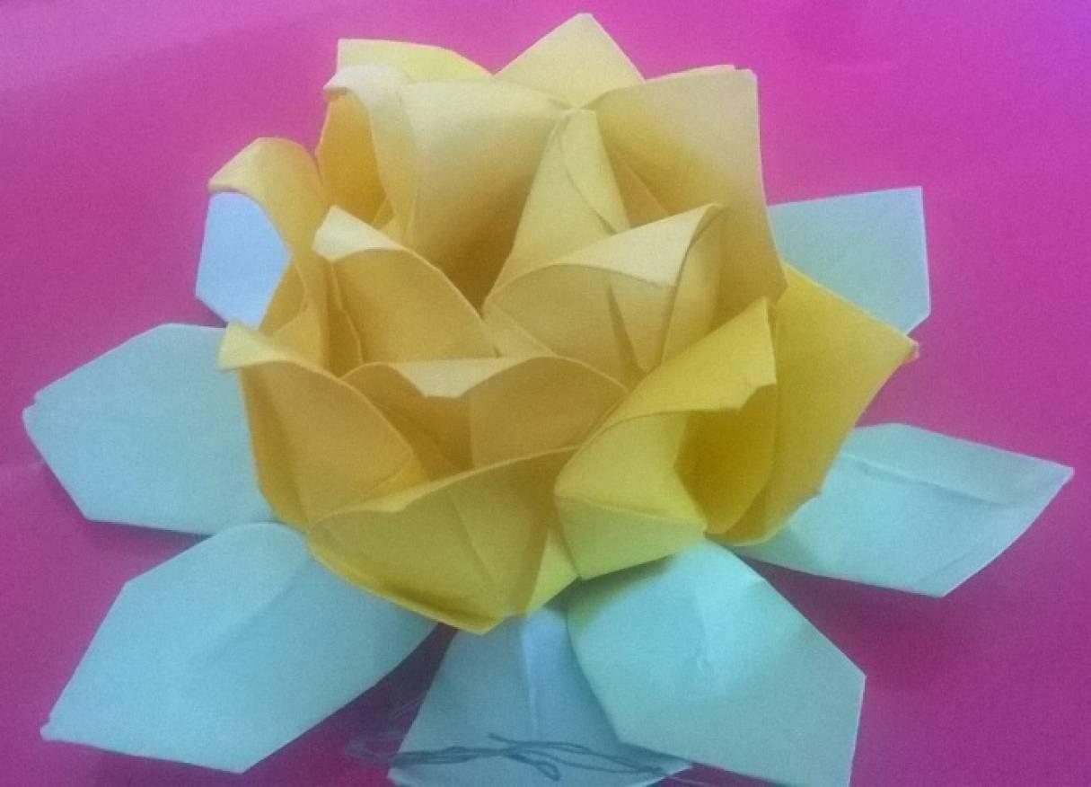 Мастер-класс по изготовлению розы (модульное оригами).