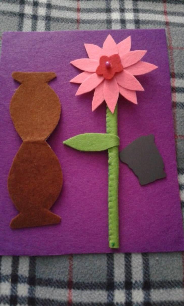 РаМастер класса-магнит с цветами из фетра
