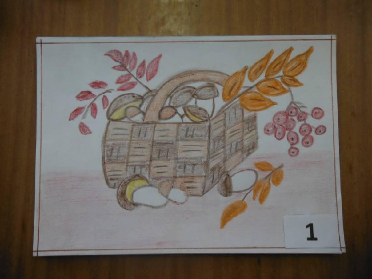 Фотоотчет о конкурсе детского рисунка «Грибное лукошко»