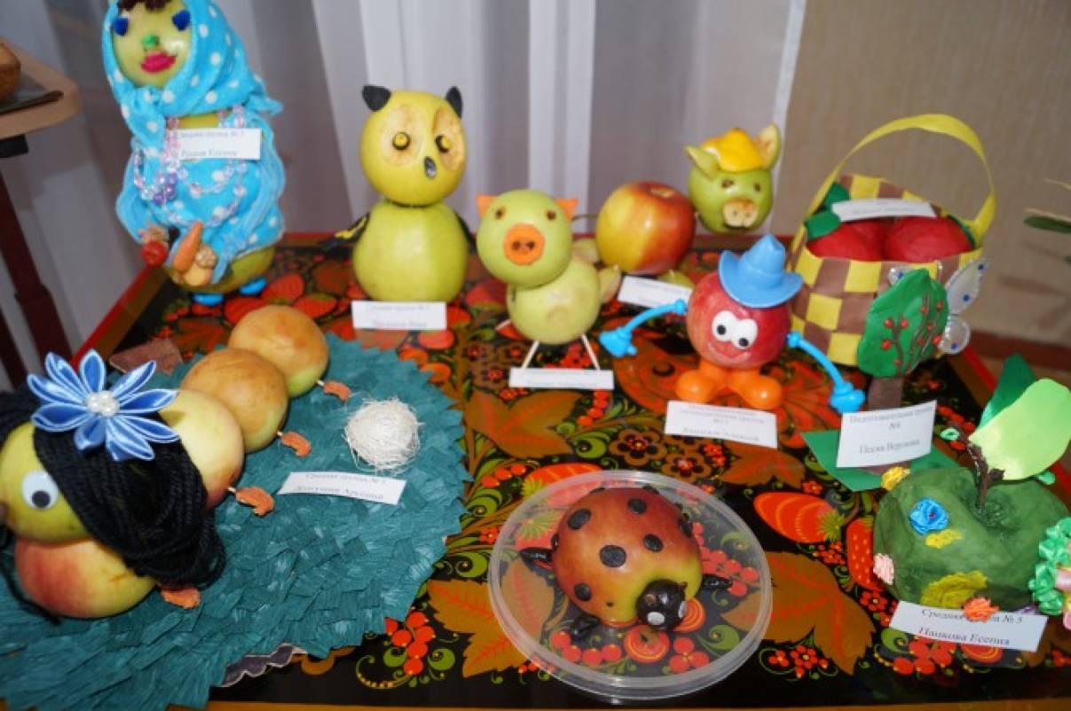 Поделки из фруктов и овощей своими руками для