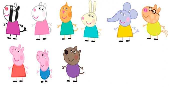 Конспект занятия (ФЭМП) в старшей группе «Свинка Пеппа с ...