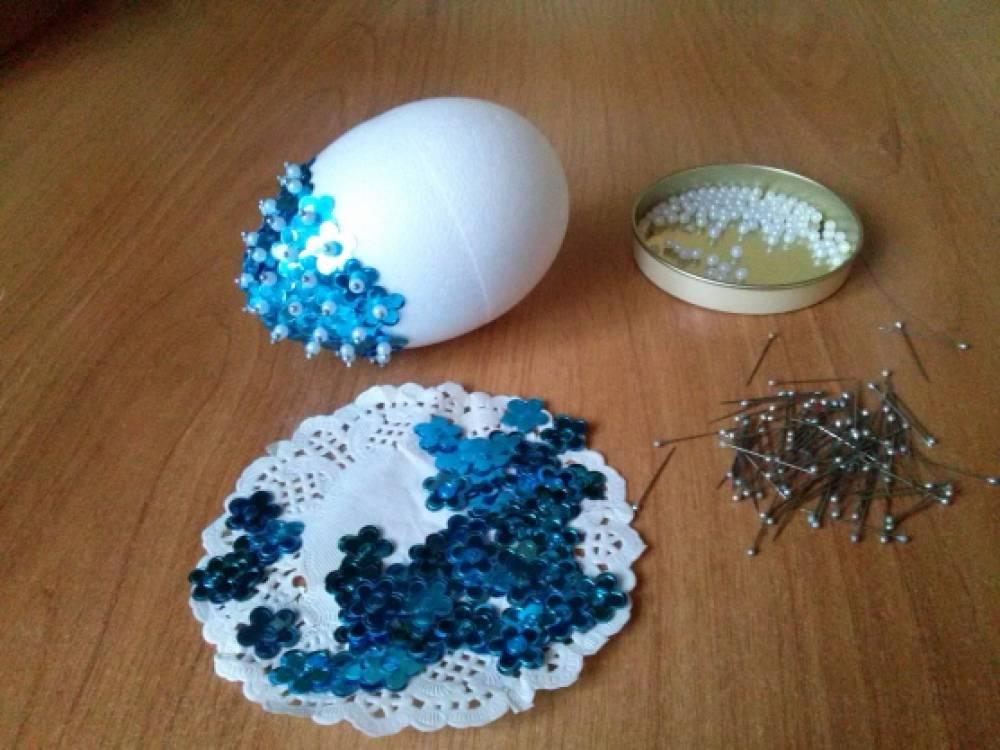 Поделки из пенопластовых яиц своими