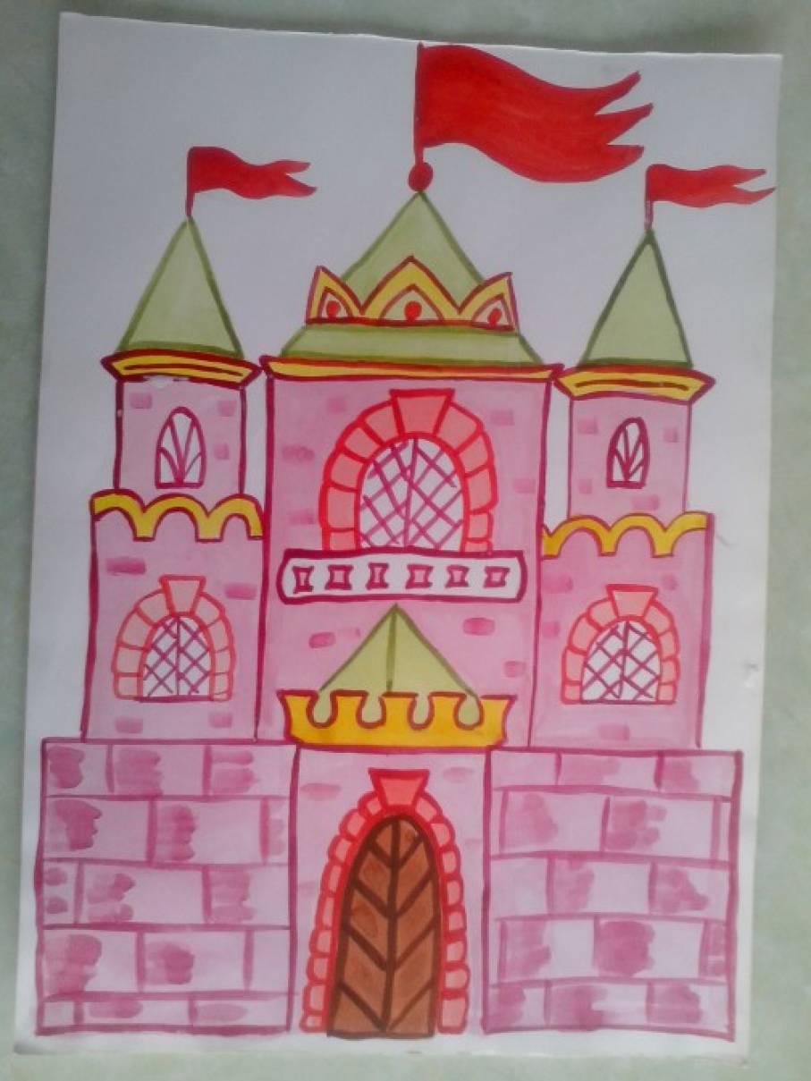 картинка по рисованию сказочный дворец изумрудного
