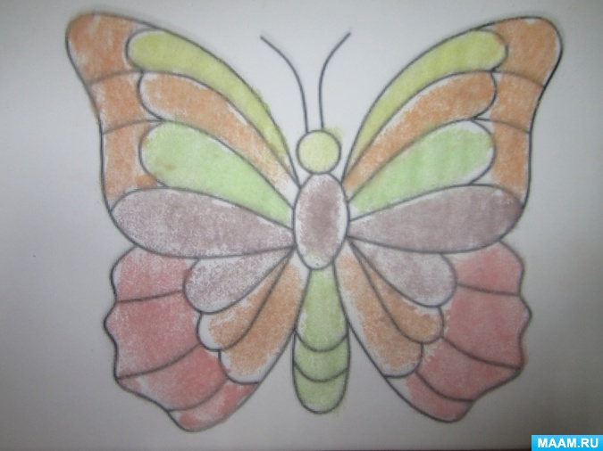 Мастер-класс по нетрадиционному рисованию солью «Бабочка»