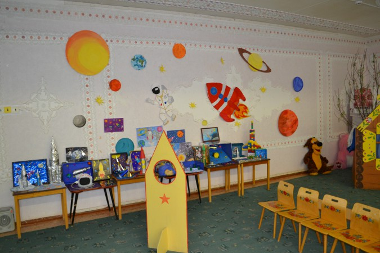 Поделки и рисунки посвященные Дню Космонавтики (фотоотчет)
