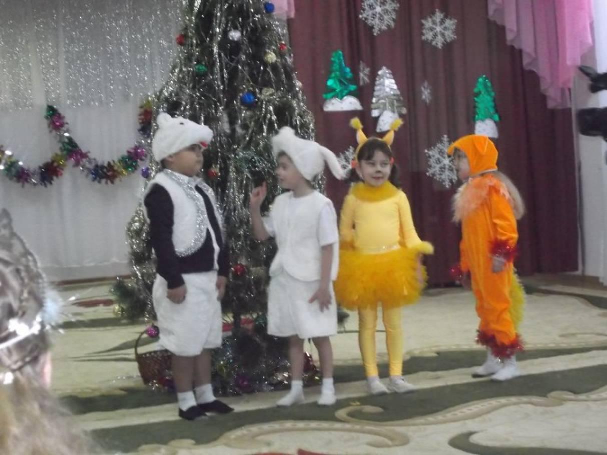 Сценарий новогоднего утренника для детей 5-6 лет