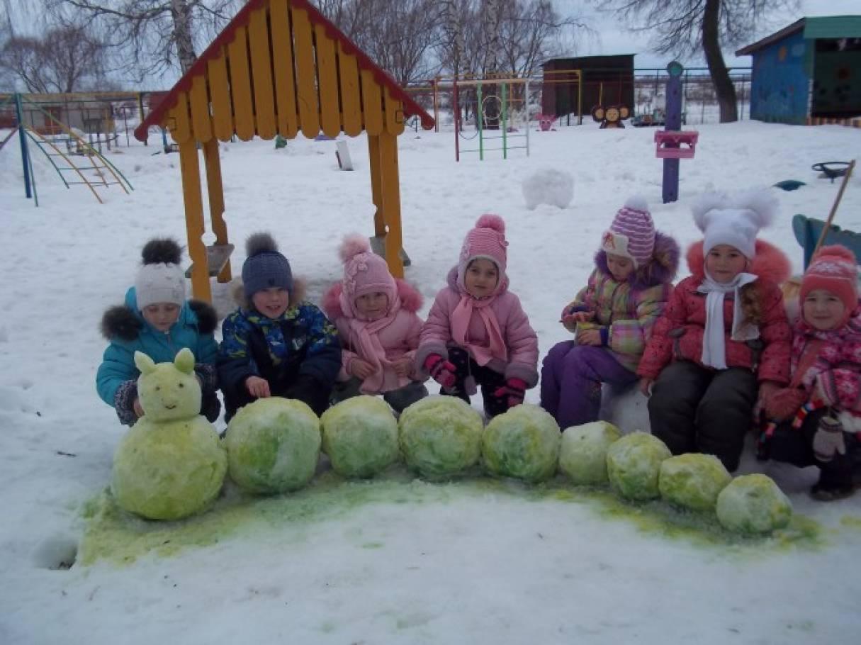 конспект зимние забавы в детском саду на прогулке