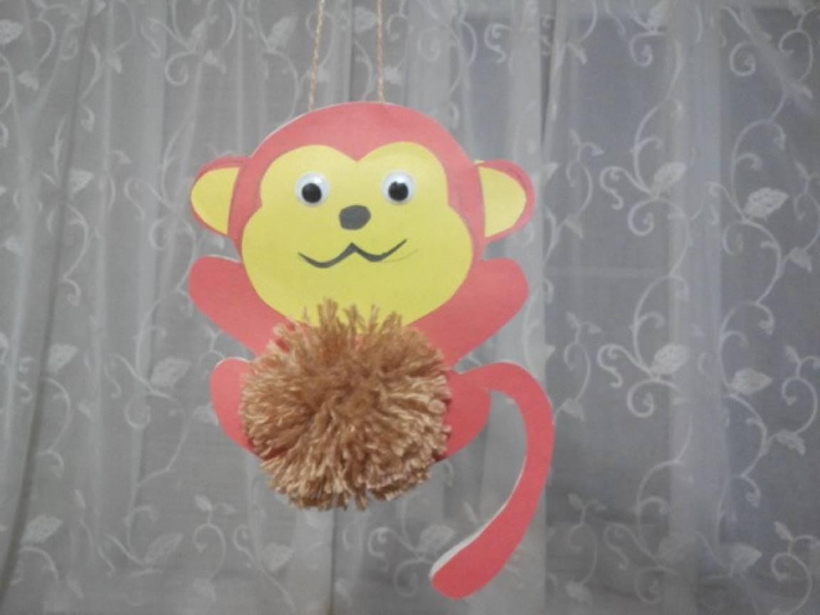 Поделка обезьяна своими руками в детский сад