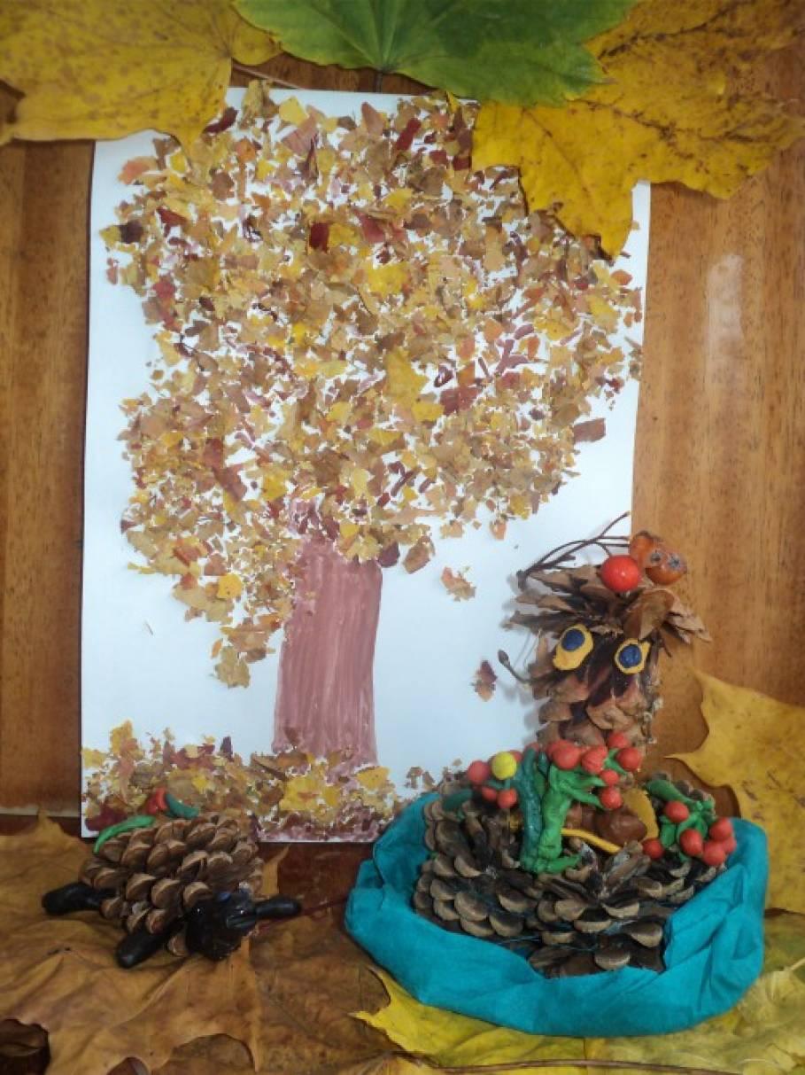 Поделки осень своими дерево осенние 65