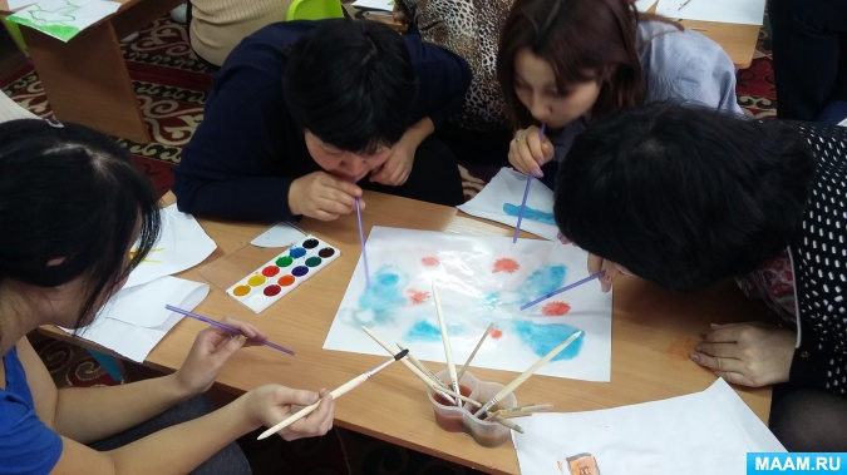 Конспект занятия психолога с воспитателями: «Арт-терапия как метод работы воспитателя с детьми дошкольного возраста».