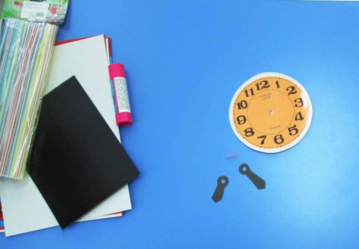 Часы своими руками из картона в школу: 3 варианта