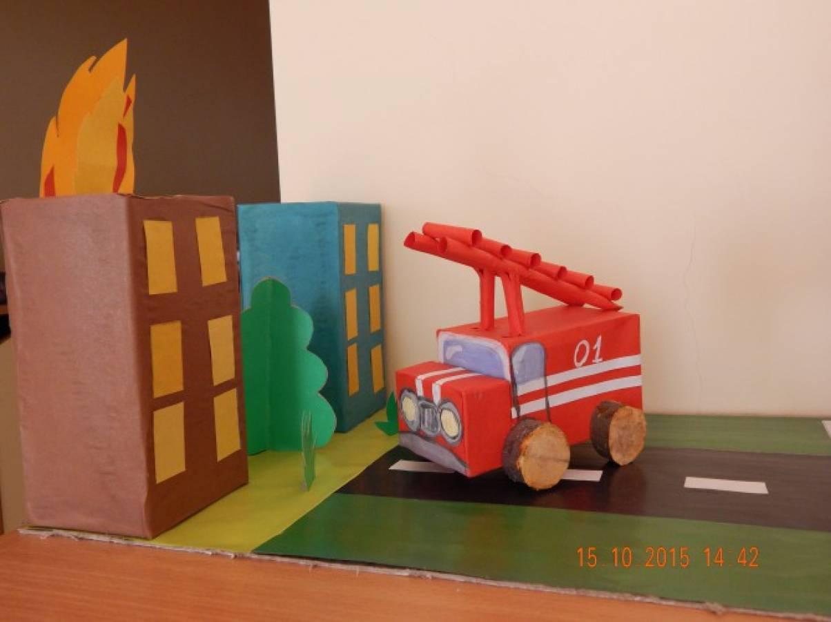 Фотоотчёт. Выставка поделок «Пожарная безопасность»