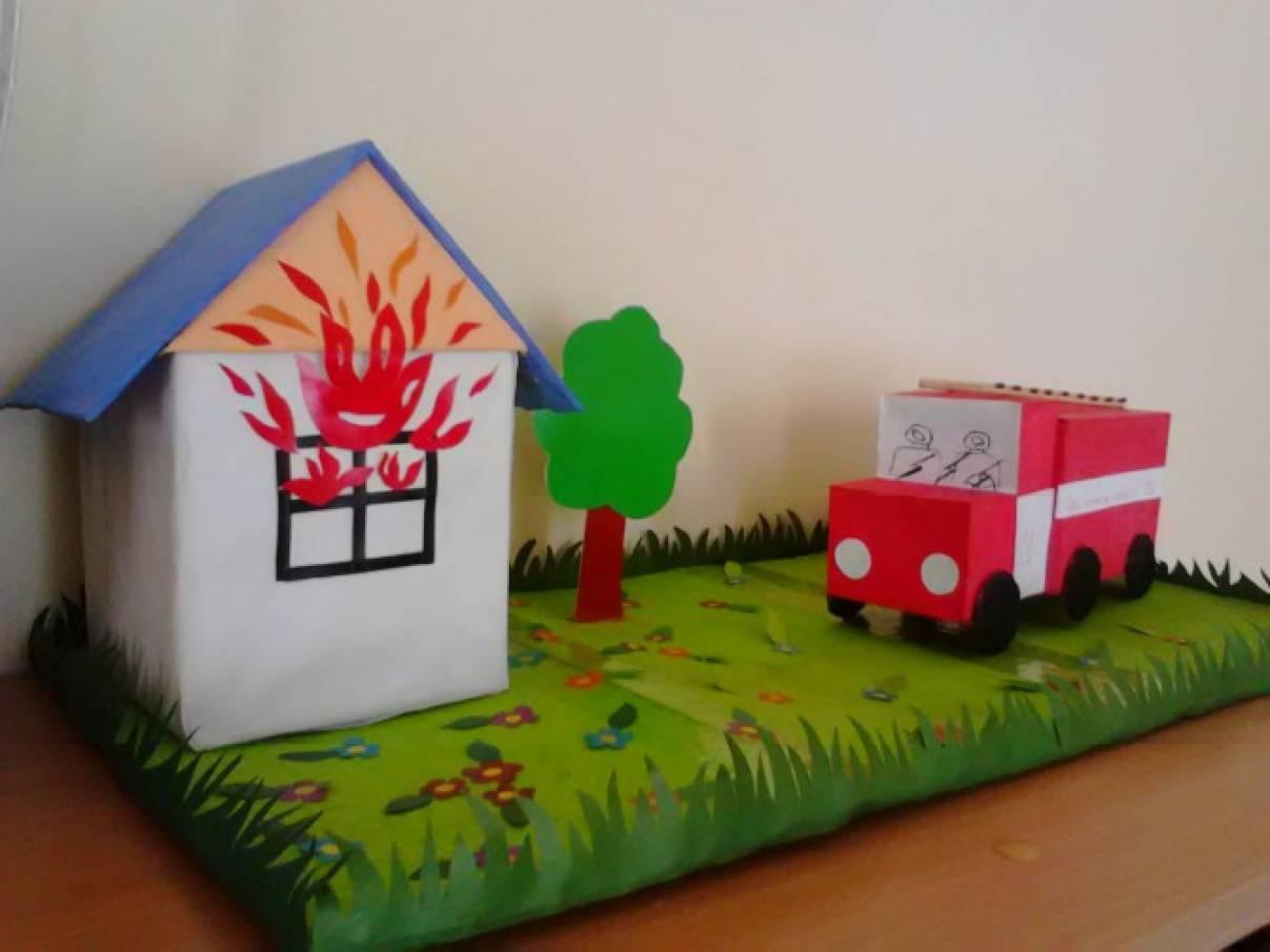 Ребенок и пожарная безопасность поделки 911