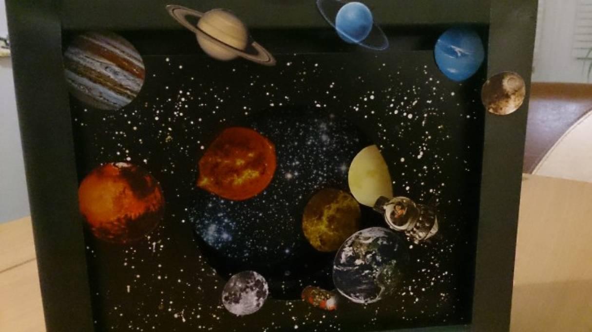 Мастер-класс поделки ко Дню Космонавтики. Бумажный туннель «Космос»