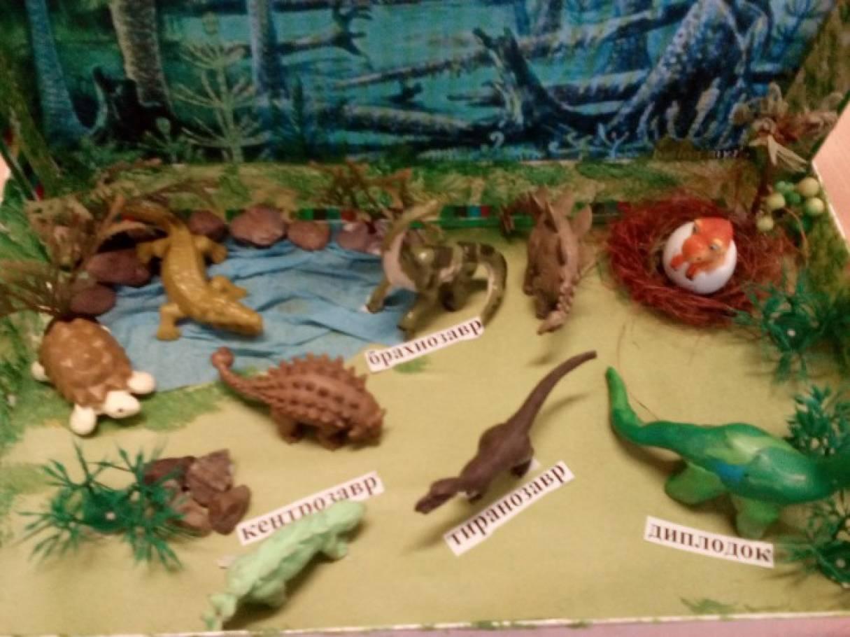 Макет мир динозавров для детского сада