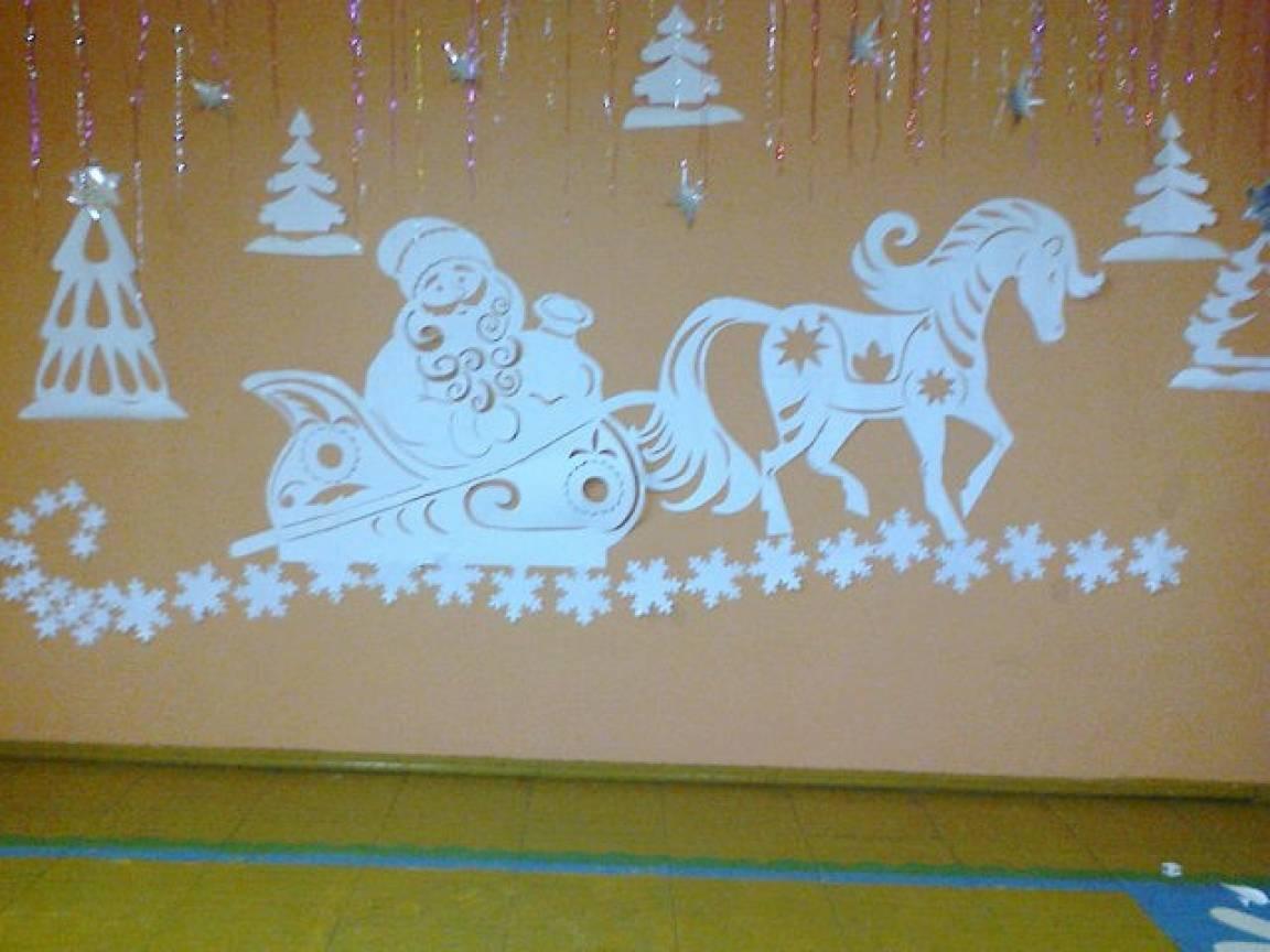 Звездное небо на украшение зала к новому году