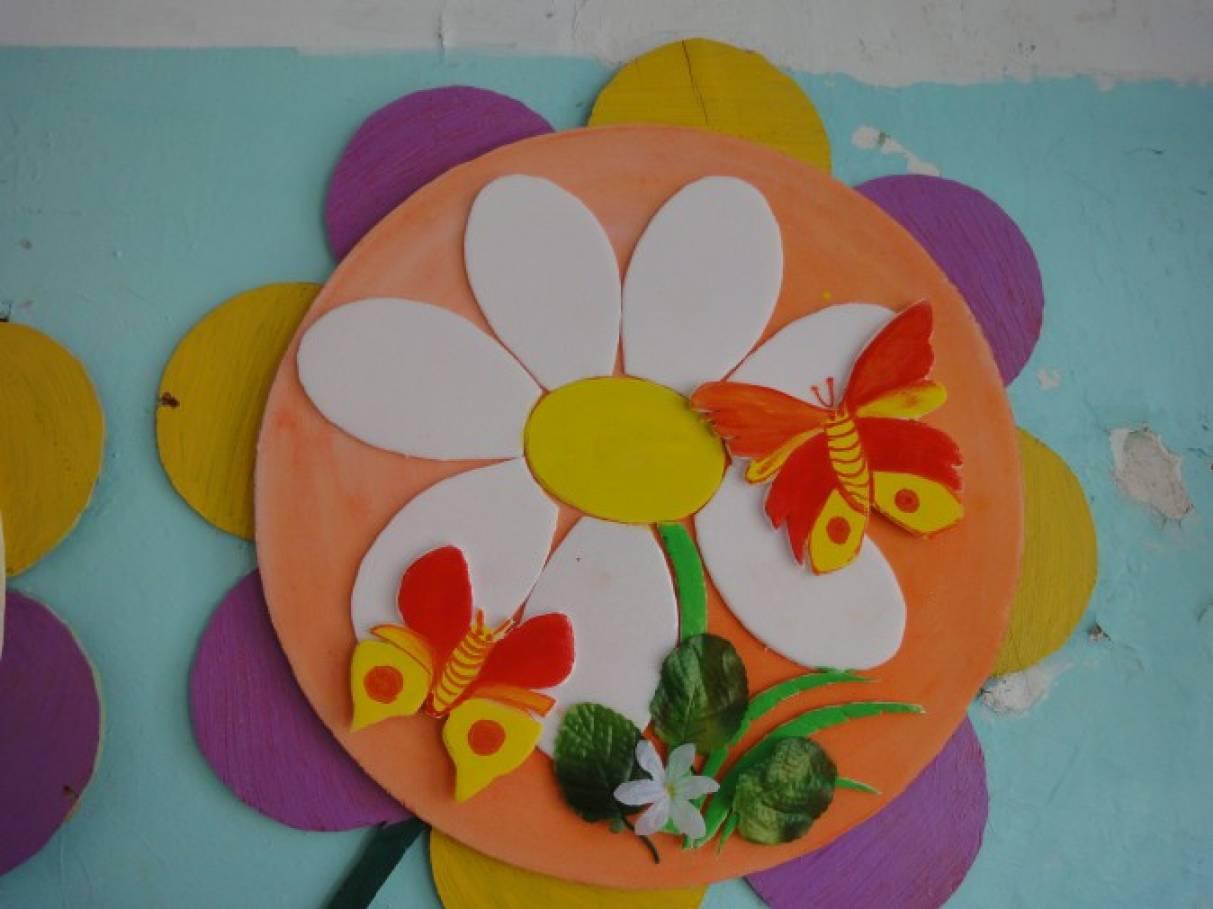 Цветы из потолочного своими руками