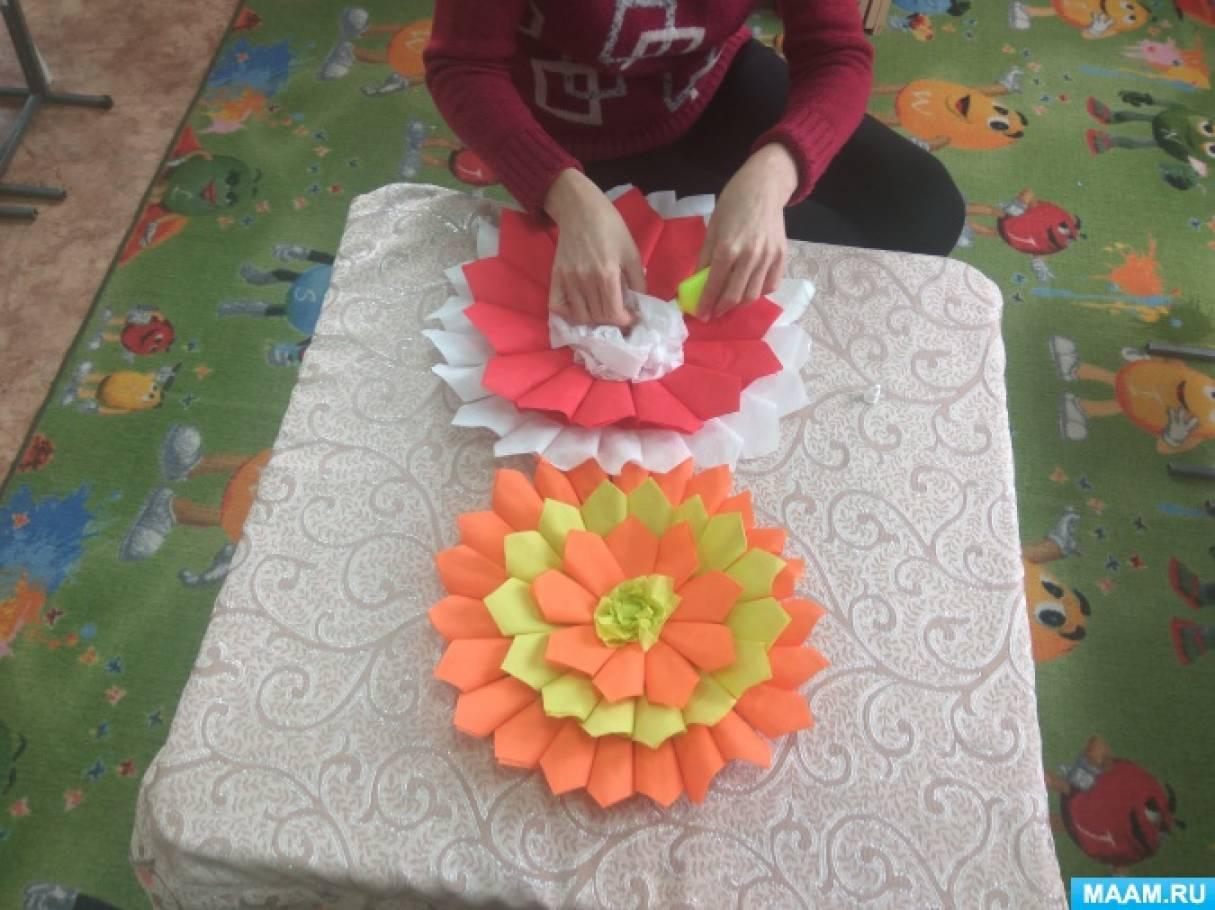 Мастер-класс «Цветы из салфеток на выпускной бал»