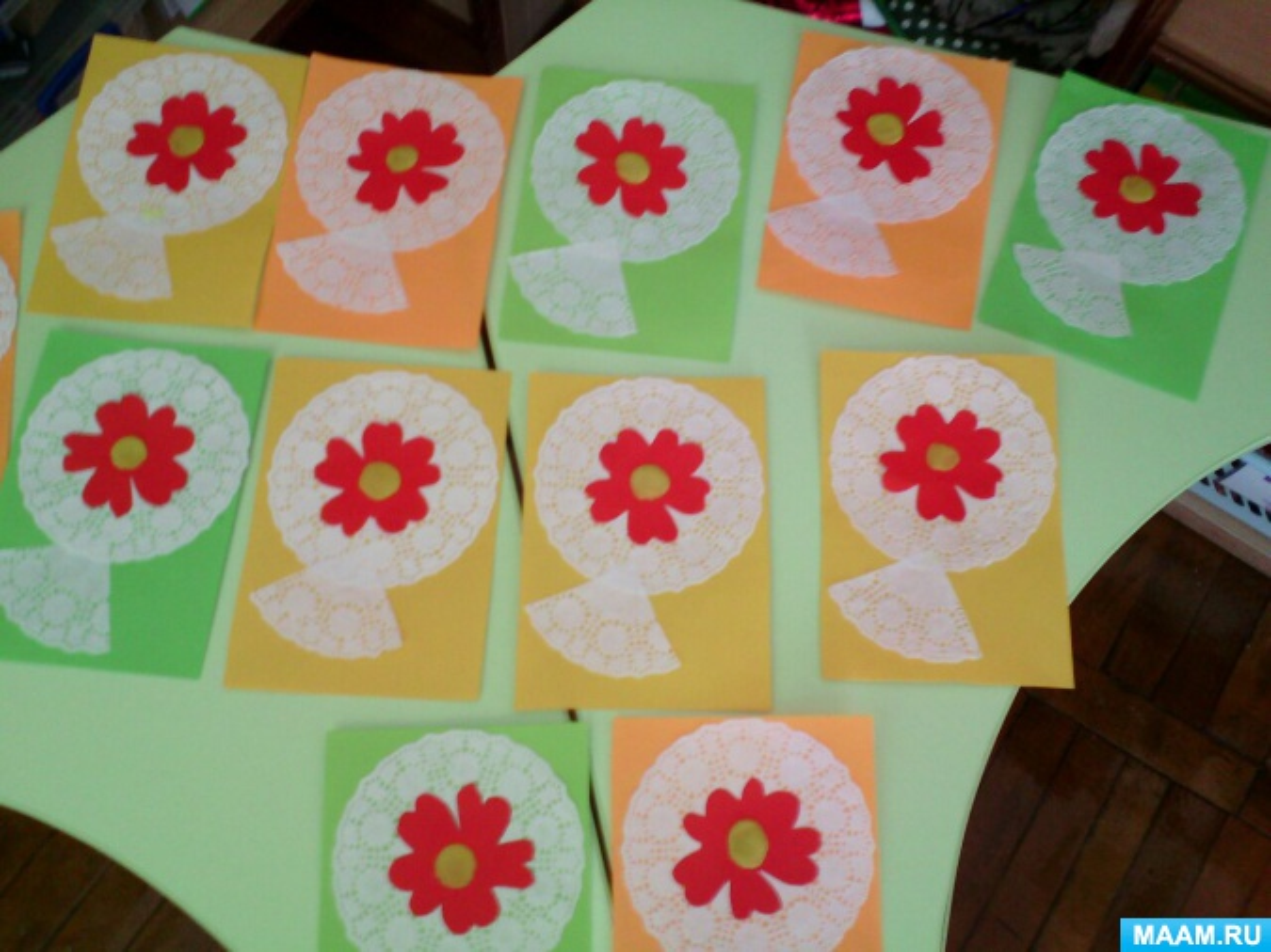 Открытках, открытки к дню матери своими руками в детском саду младшая