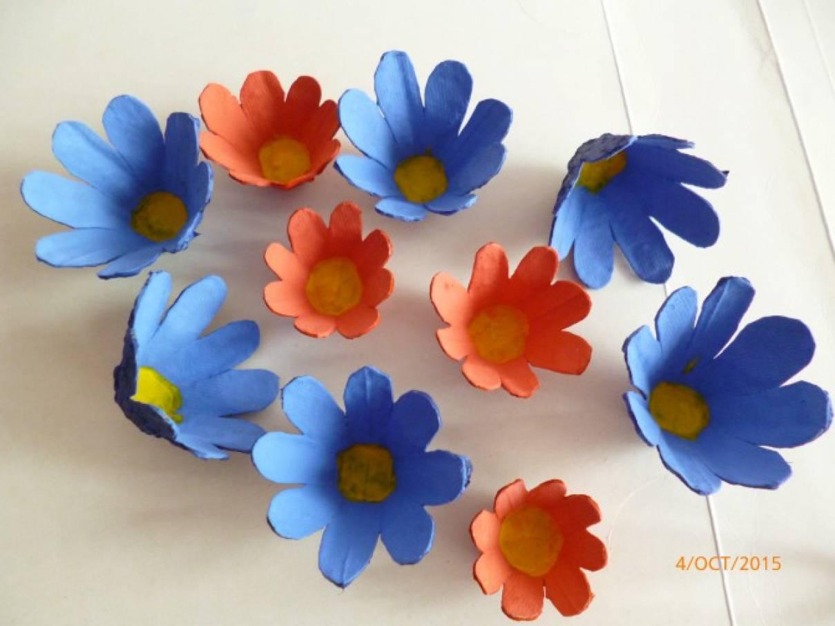Цветы своими руками из упаковки от яиц своими руками 67
