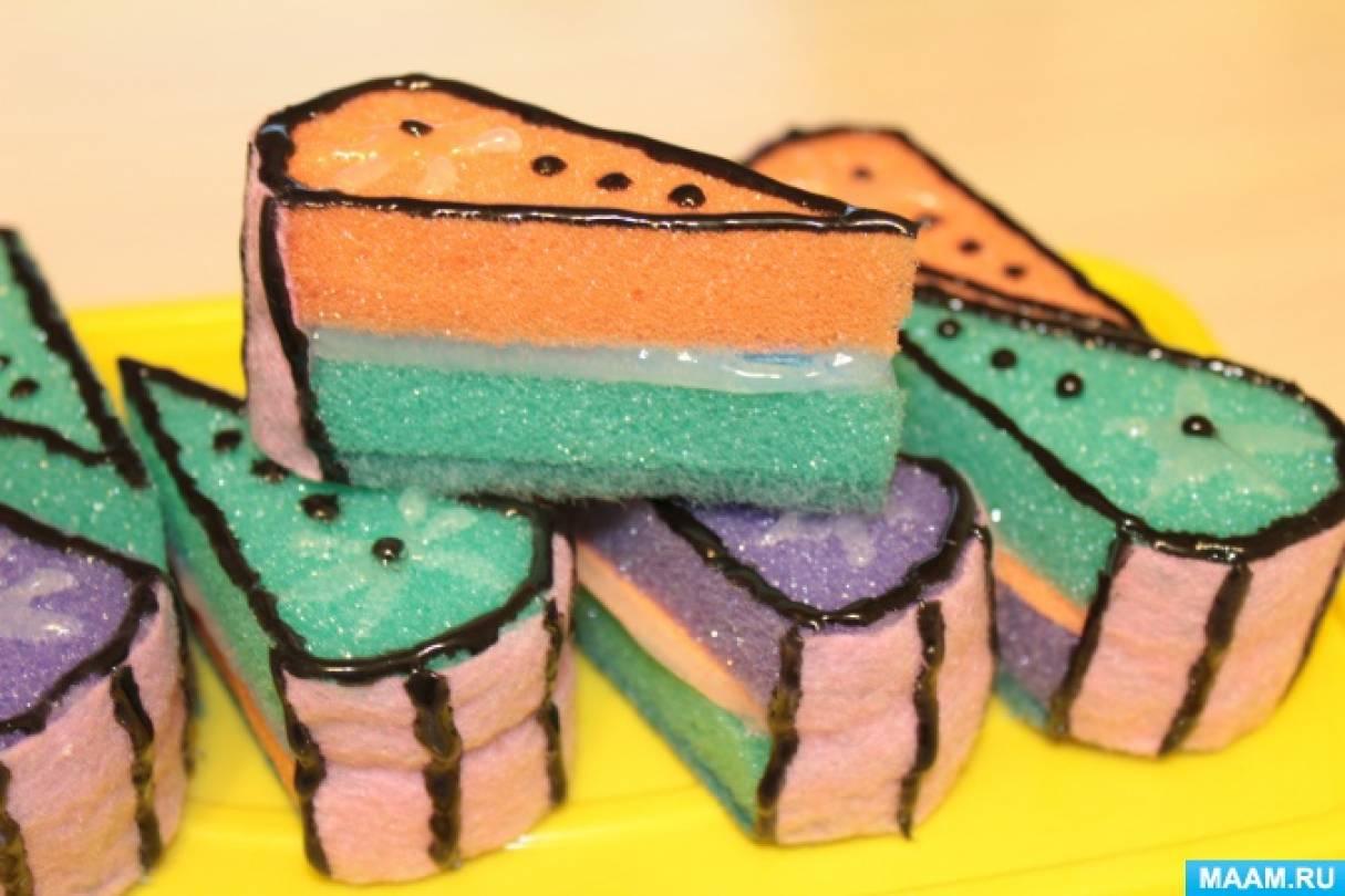Пирожное своими руками из губок для 91