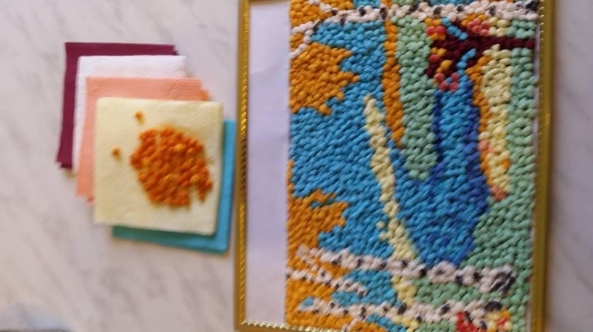 Картина из салфеток своими руками золотая осень 63