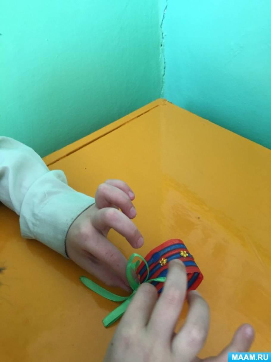 Мастер-класс по изготовлению браслета из бросового материала