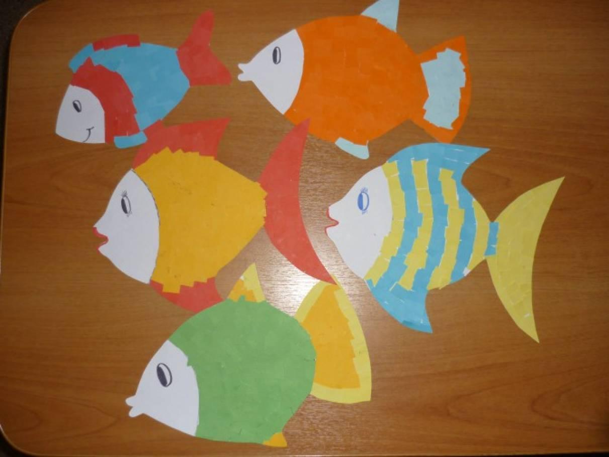 Рыба из цветной бумаги своими руками 31