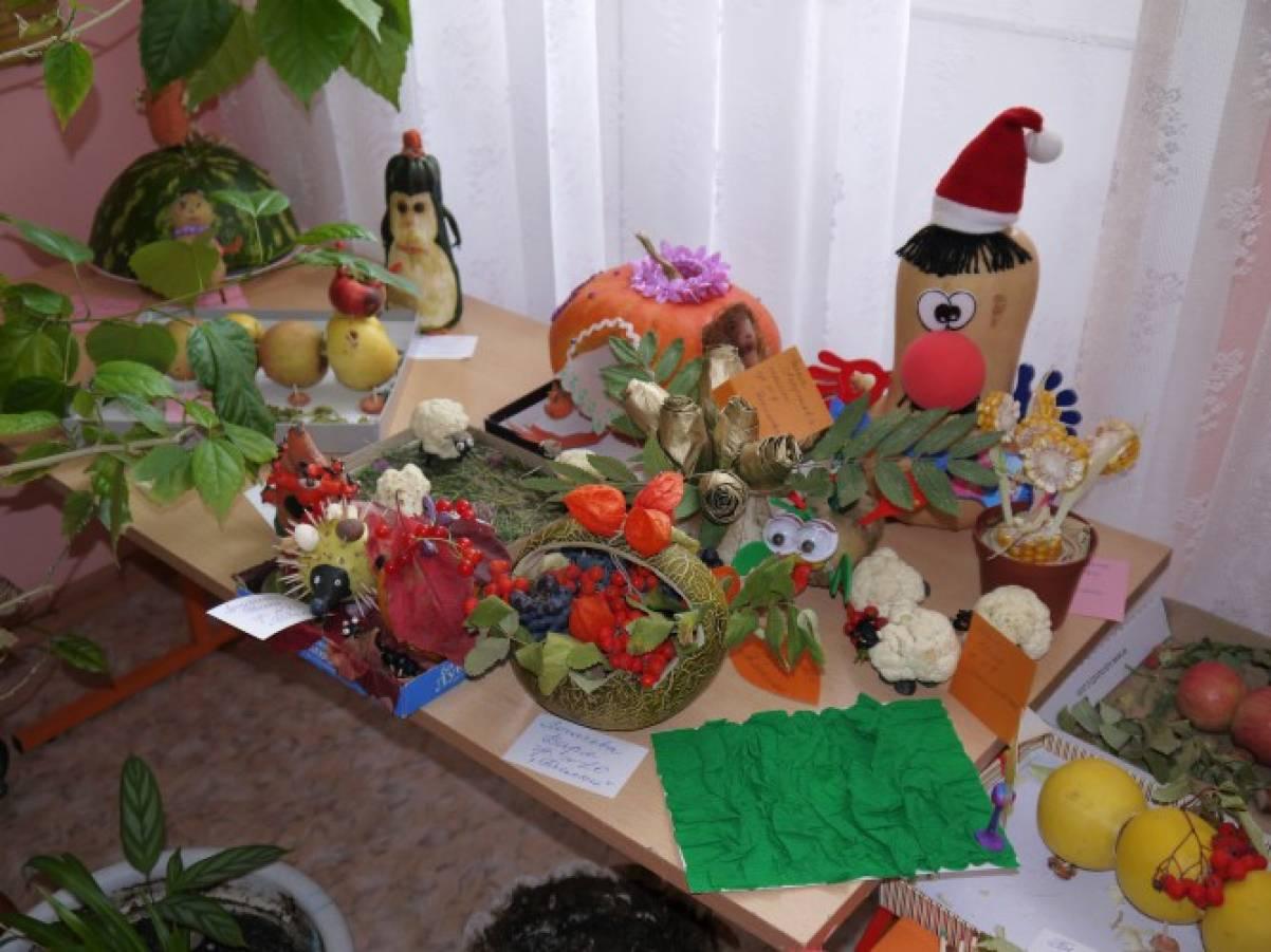 Поделка для выставки из овощей