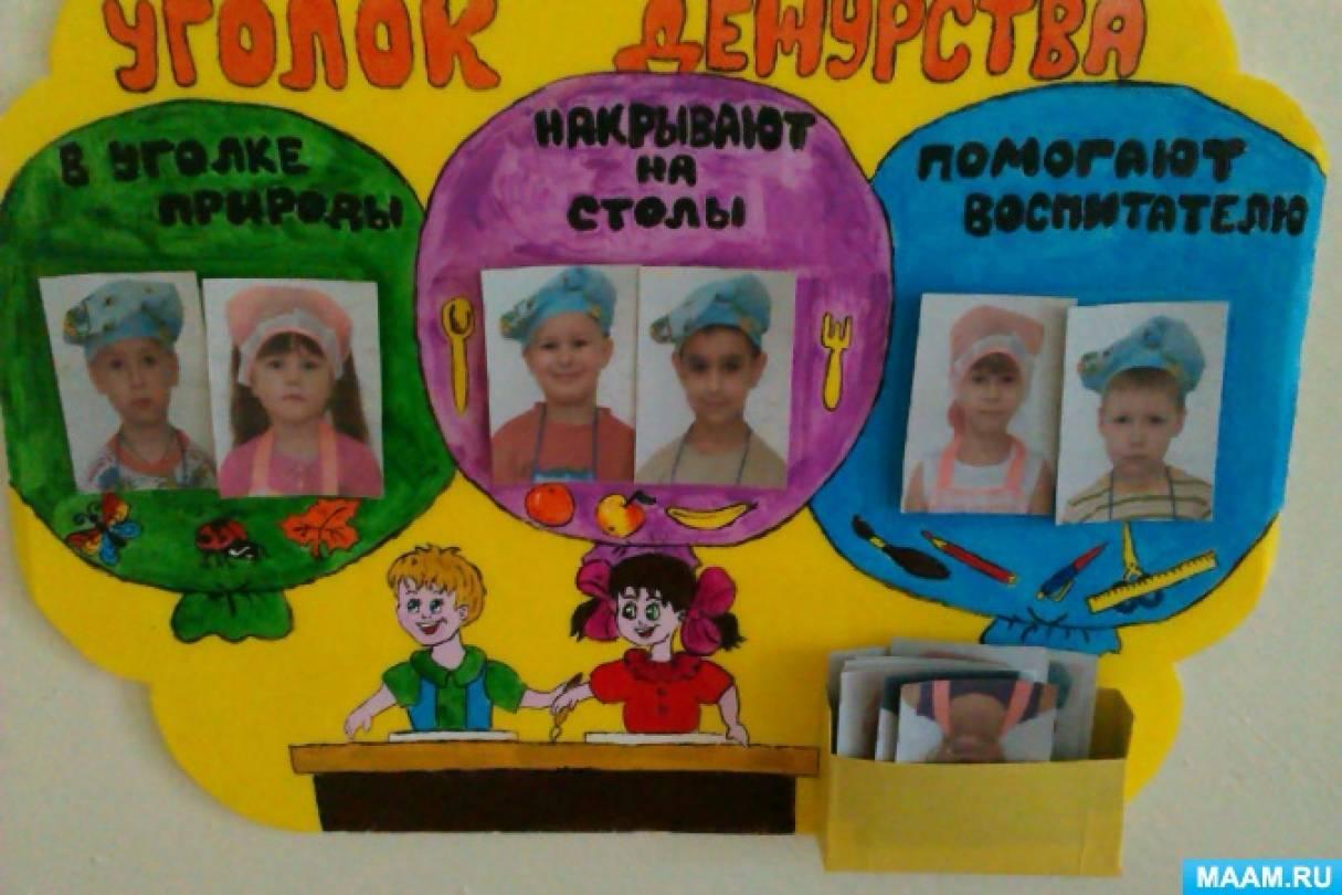 Уголок дежурств в детском саду по столовой картинки 12