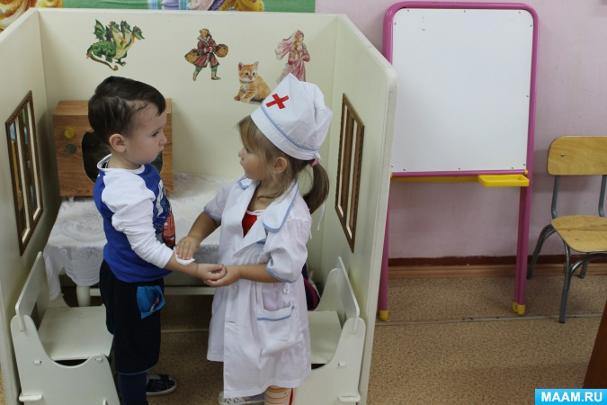 развитие речи знакомство с профессией врача