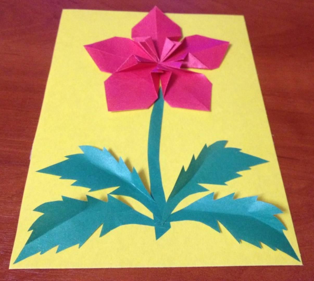 Изготовление открыток оригами к дню матери