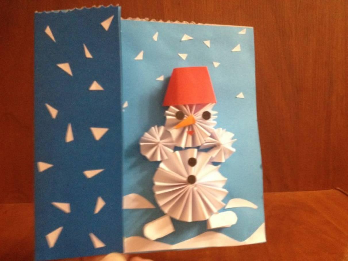 Картинки, аппликация на новогоднюю открытку