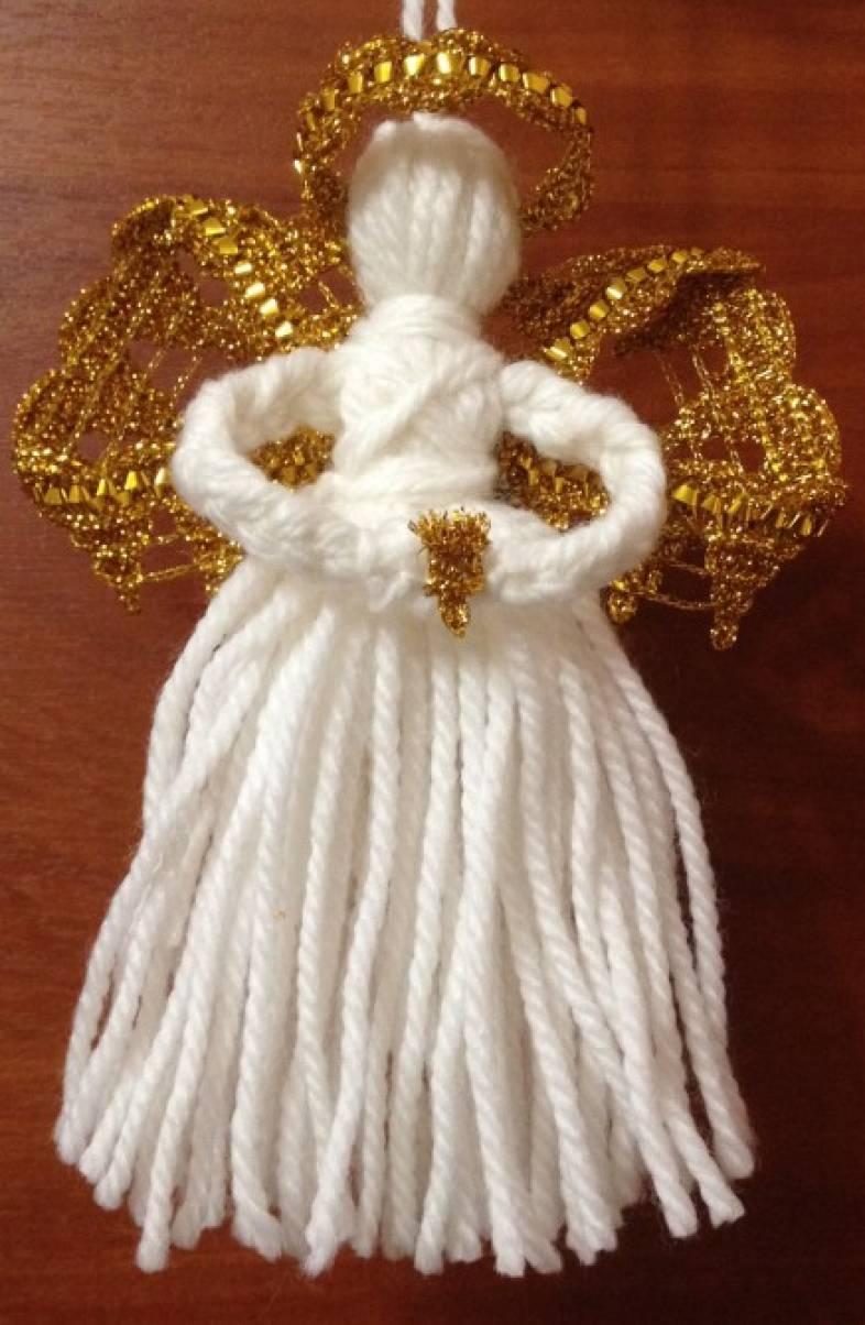 Ангел из ниток своими руками мастер класс 17