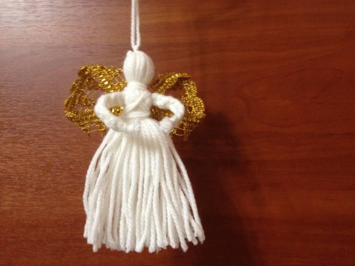 Ангел из ниток своими руками мастер класс 94