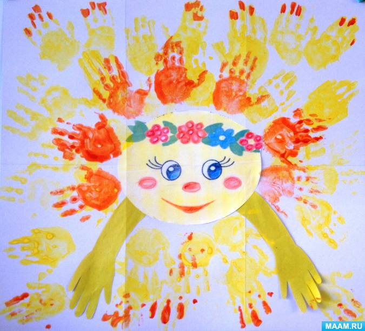 Фотоотчёт о тематическом дне Солнца в младшей группе