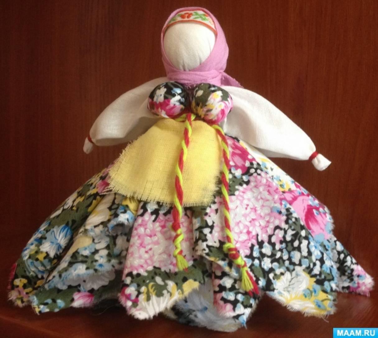 Тряпичная кукла Капустка. Мастер-класс.