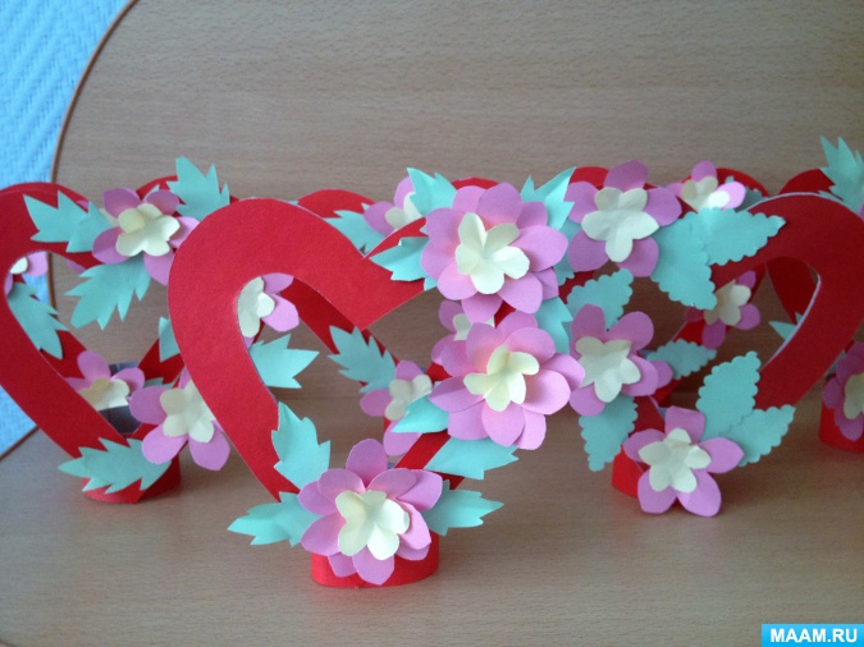 Детский мастер-класс по изготовлению подарка для родных «Валентинка»