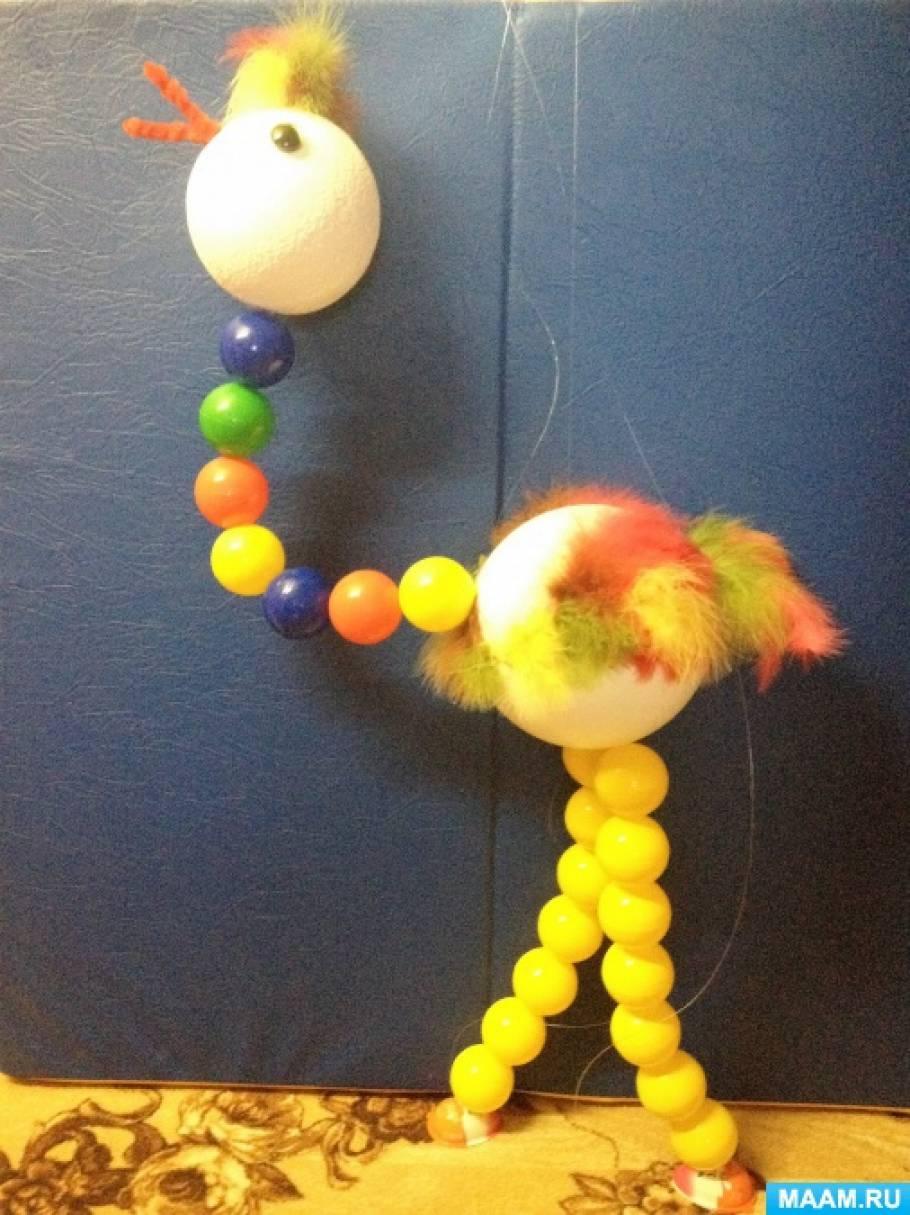 Мастер-класс по изготовлению куклы-марионетки «Страус»
