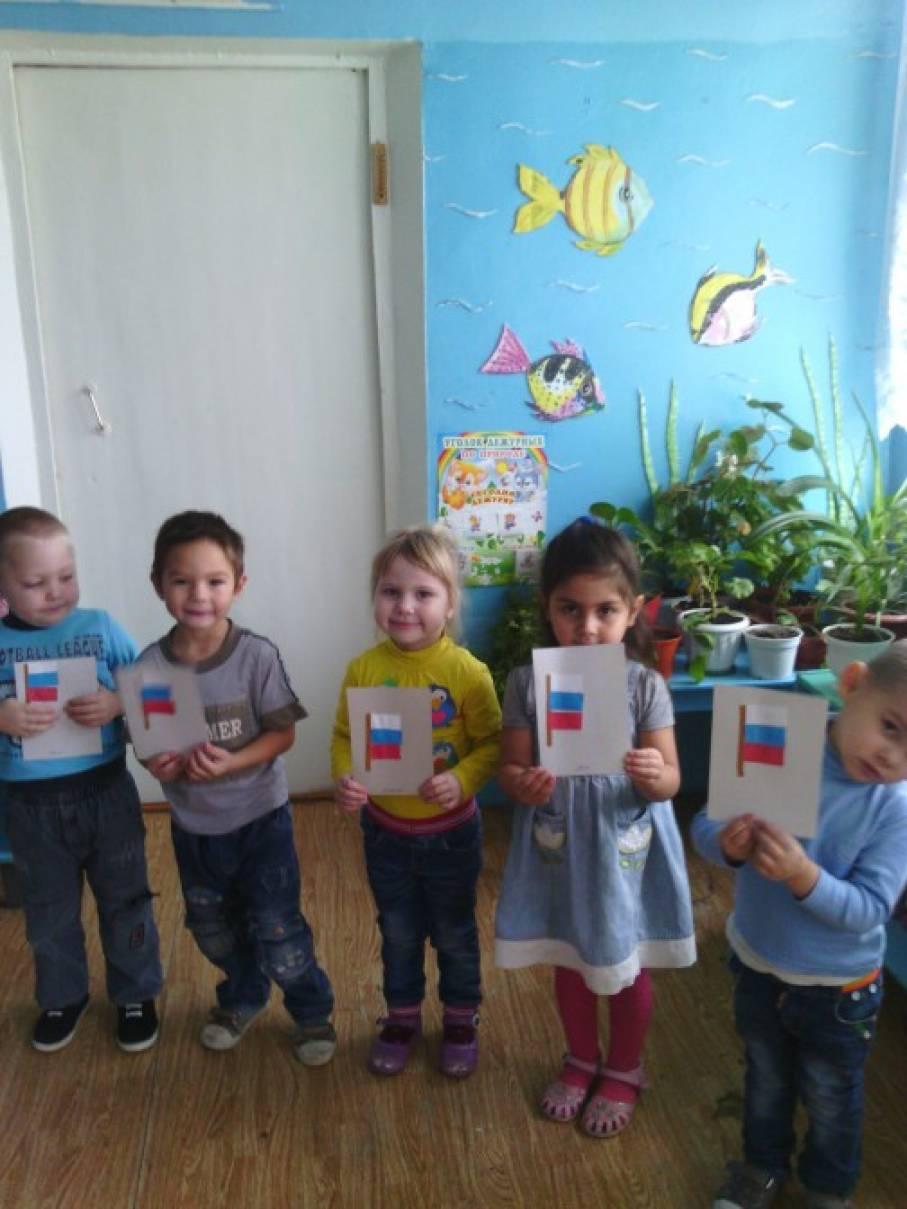Конспект образовательной деятельности по аппликации во второй младшей группе «Флажок»