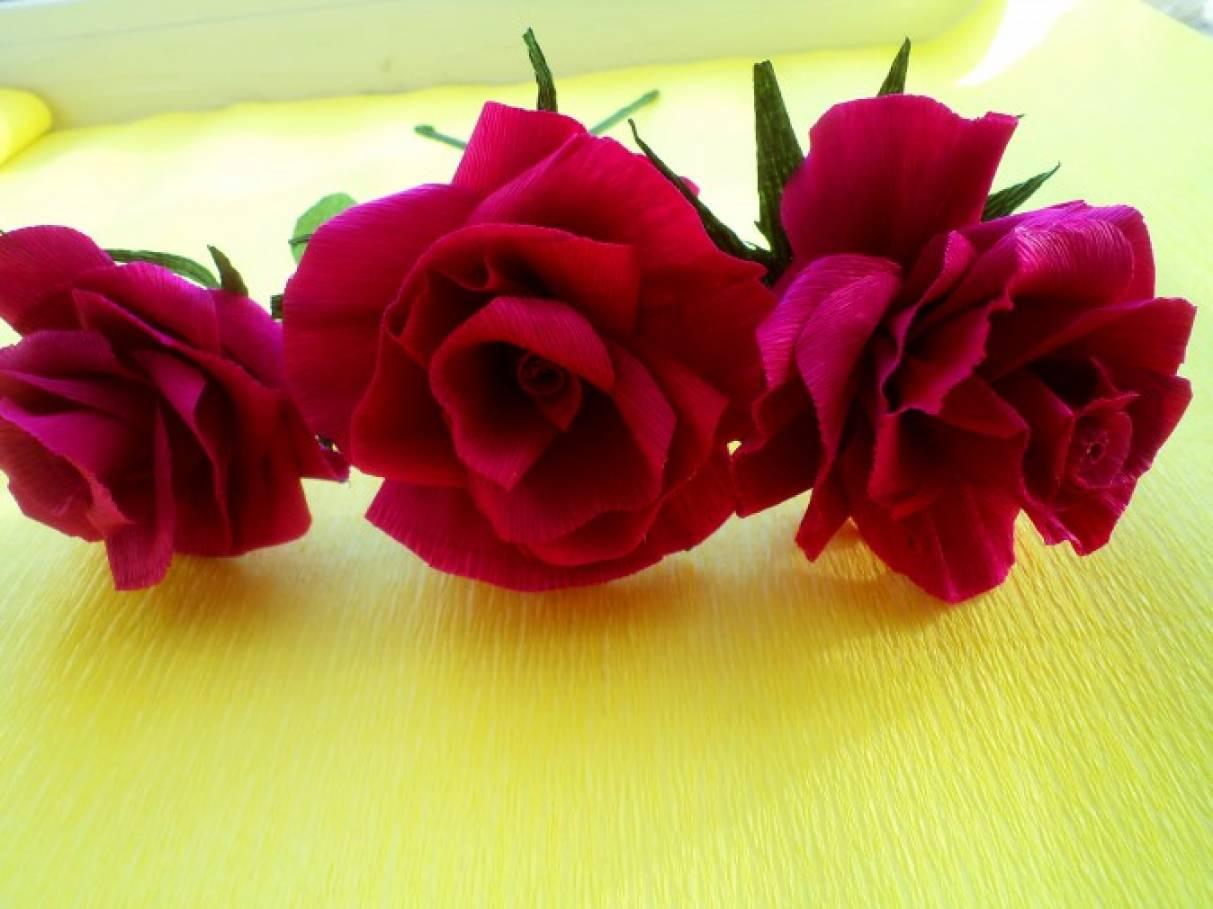 Мастер-класс: «Роза из гофрированной бумаги»